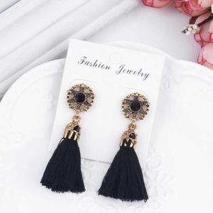 🌞 New Tassel Earrings - Black 